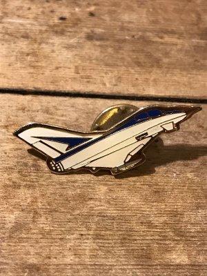 ミリタリーのジェット機のビンテージピンバッジ
