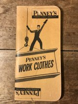 Penney's Work Cloths Time Book ぺニーズ ビンテージ タイムブック 50年代 ワーク 古着 カレンダー ヴィンテージ vintage