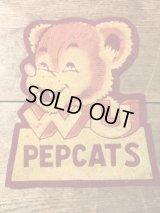 Willamette University Pepcats Felt Patch カレッジ ビンテージ ワッペン 40年代 ユニバーシティ フェルト ヴィンテージ vintage