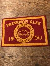 Willamette University Freshman Glee Felt Patch カレッジ ビンテージ ワッペン 50年代 ユニバーシティ フェルト ヴィンテージ vintage