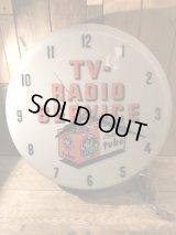 TV Radio Service Lighted Wall Clock クロック ビンテージ ゼネラルエレクトリック アドバタイジング 掛け時計 50年代 置き時計 ヴィンテージ vintage