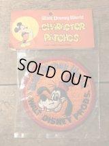 Disney World Goofy Patch グーフィー ビンテージ ワッペン 70年代 ディズニー パッチ ヴィンテージ vintage