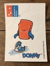 Domino's Pizza Donny Sticker ドミノピザ ビンテージ 着せ替えシール ドニー アドバタイジング 90年代 ファーストフード ヴィンテージ vintage