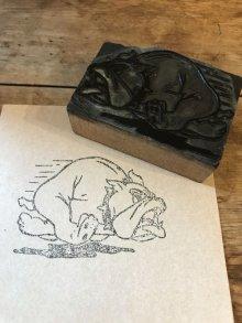 他の写真1: Bulldog Letterpress Stamp ブルドッグ ビンテージ スタンプ はんこ アドバタイジング ピンズ 企業キャラクター ヴィンテージ vintage