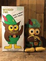 Woodsy Owl Plush Doll With Box ウッジーオウル ビンテージ プラッシュドール 森林警備隊 アドバタイジング 70年代 企業キャラクター ヴィンテージ vintage