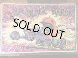 The Black Baron Blacklight Poster ザブラックバロン ビンテージ ポスター ホットロッド 70年代 ブラックライト レッドバロン ヴィンテージ vintage