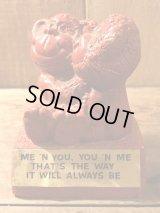 Paula Monkey Message Doll メッセージドール ビンテージ 動物 70年代 置物 シリスカルプ ヴィンテージ vintage