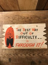 Plak Kard Cartoon Message Postcard  ポストカード ビンテージ 60年代 メッセージカード ヴィンテージ vintage