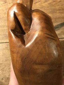 他の写真2: Wooden Fuck Figurine Big Size ファック ビンテージ 木彫り 70年代 置物 ヴィンテージ vintage