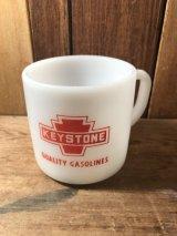 Keystone Gasoline Fedral Mug キーストーン 60年代 マグカップ フェデラル ガソリン ミルクガラス ファイヤーキング ヴィンテージ vintage