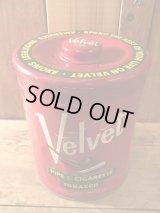 Velvet Tobacco Tin Can タバコ 50年代 ブリキ缶 ベルベット ヴィンテージ vintage