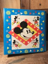 Disney Mickey Mouse Mini Binder ミッキーマウス バインダー 80年代 ディズニー ファイル ヴィンテージ vintage
