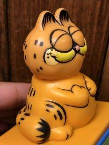 他の写真1: Garfield Plastic Message Push Toy ガーフィールド ビンテージ プッシュトイ メッセージ 80年代