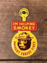 Smokey Bear Tab Badge スモーキーベア ビンテージ タブ バッジ アドバタイジング 企業キャラクター 60年代
