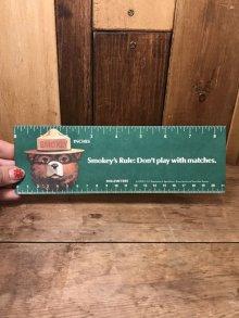 他の写真1: Smokey Bear Paper Ruler スモーキーベア ビンテージ ものさし 定規 アドバタイジング 企業キャラクター 80年代