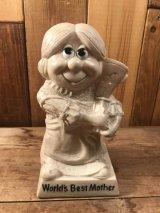 """Sillisculpts """"World's Best Mother""""Message Doll メッセージドール ビンテージ シリスカルプス 70年代"""
