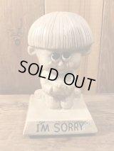"Sillisculpts ""I'M SORRY""Message Doll メッセージドール ビンテージ シリスカルプス 70年代"