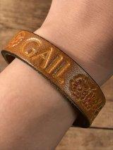 "American Name ""GAIL""Leather Bracelet レザー ビンテージ ブレスレット ヒッピー 70年代"