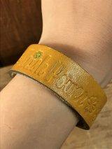 "American Name ""Irish Power""Leather Bracelet レザー ビンテージ ブレスレット ヒッピー 70年代"