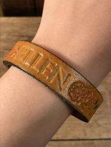 "American Name ""ELLEN""Leather Bracelet レザー ビンテージ ブレスレット ヒッピー 70年代"