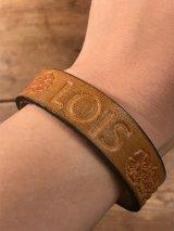 "American Name ""LOIS""Leather Bracelet レザー ビンテージ ブレスレット ヒッピー 70年代"