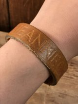 "American Name ""JEANNE""Leather Bracelet レザー ビンテージ ブレスレット ヒッピー 70年代"