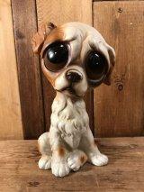 """Big Eye """"Gig"""" Sad Dog Paper Mash Figure ビッグアイ ビンテージ サッドドッグ 置物 60年代"""