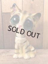 """Big Eye """"Gig"""" Sad Cat Plastic Figure ビッグアイ ビンテージ サッドキャット 置物 60年代"""