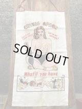 Naughty Risque Topless Nude Crying Apron ヌード ビンテージ エプロン 50年代