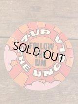 7up The Uncola Sticker セブンアップ ビンテージ ステッカー 70年代