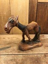Multi Product Inc Hungry Horse Wood Figurine ハングリーホース ビンテージ 置物 木彫り 40年代