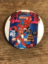 Domino's Pizza Noid Can Badge ビンテージ ドミノピザ ノイド バッチ 缶バッジ アドバタイジング 企業キャラクター 80年代