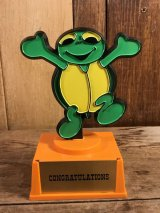 Aviva Freddy B.Turtle Message Trophy カメ ビンテージ トロフィー メッセージ アビバ 70年代