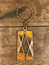 Hexagram Enamel Keychain 六芒星 ビンテージ キーホルダー エナメル 70年代