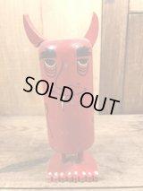 Pride Creations Popsies Red Devil Wood Toy ポップシーズ ビンテージ メッセージトイ プライドクリエーションズ 60年代