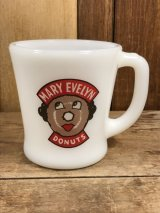 Fire King Mary Evelyn Donuts D-Handle Mug ドーナツ屋 ビンテージ ファイヤーキング マグカップ アドマグ 60年代