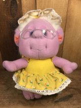 Playskool Hobnobbins Grandma Happy Hugs Plush Doll ホブノビンズ ビンテージ プラッシュドール トロール ぬいぐるみ 80年代