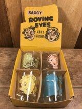 Saucy Roving Eyes Shot Glasses ショットグラス ビンテージ ジョークグッズ メッセージ 50年代