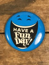 Smile Have A Fun Day Can Badge スマイル ビンテージ 缶バッジ 70年代