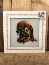 Skete Bandana Skull Glass Wall Tapestry スカル ビンテージ ガラスプレート バンダナ スケート 80年代