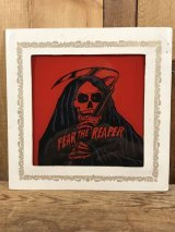 Fear The Reaper Glass Wall Tapestry 死神 ビンテージ 壁掛け ガラスプレート 80年代