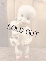 Casper and Puppy Squeeze Rubber Figure キャスパー ビンテージ フィギュア スクイーズ 60年代