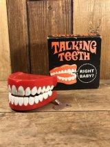 Talking Teeth Wind-Up Toy 歯茎 ビンテージ ワインドアップ ジョーク 70年代