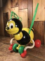 """Kusan """"Bumble Bee"""" Pull Toy バンブルビー ビンテージ プルトイ 蜂 60年代"""
