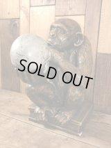 Darwin Monkey with Skull Statue ダーウィン ビンテージ スタチュー スカル 置物 60年代