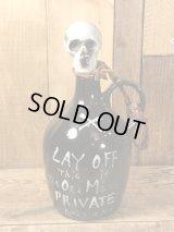 Lay Off Skull Poison Bottle Decanter スカル ビンテージ デカンタ ポイズンボトル 50年代