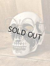 Glasses Skull Ceramic Ashtray スカル ビンテージ アシュトレイ 眼鏡 灰皿 50年代