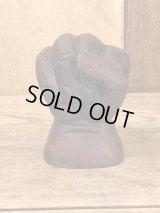 Black Power Salute Wooden Mini Figurine ブラックパワーサリュート ビンテージ 置物 木彫り 70年代