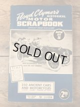 "Floyd Clymer's Historical Motor Scrapbook ""Number 5"" オートモービル ビンテージ 本 モーターサイクル ブック 40年代"