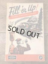 Fill'er Up! Floyd Clymer Book オートモービル ビンテージ 本 モーターサイクル ブック 50年代
